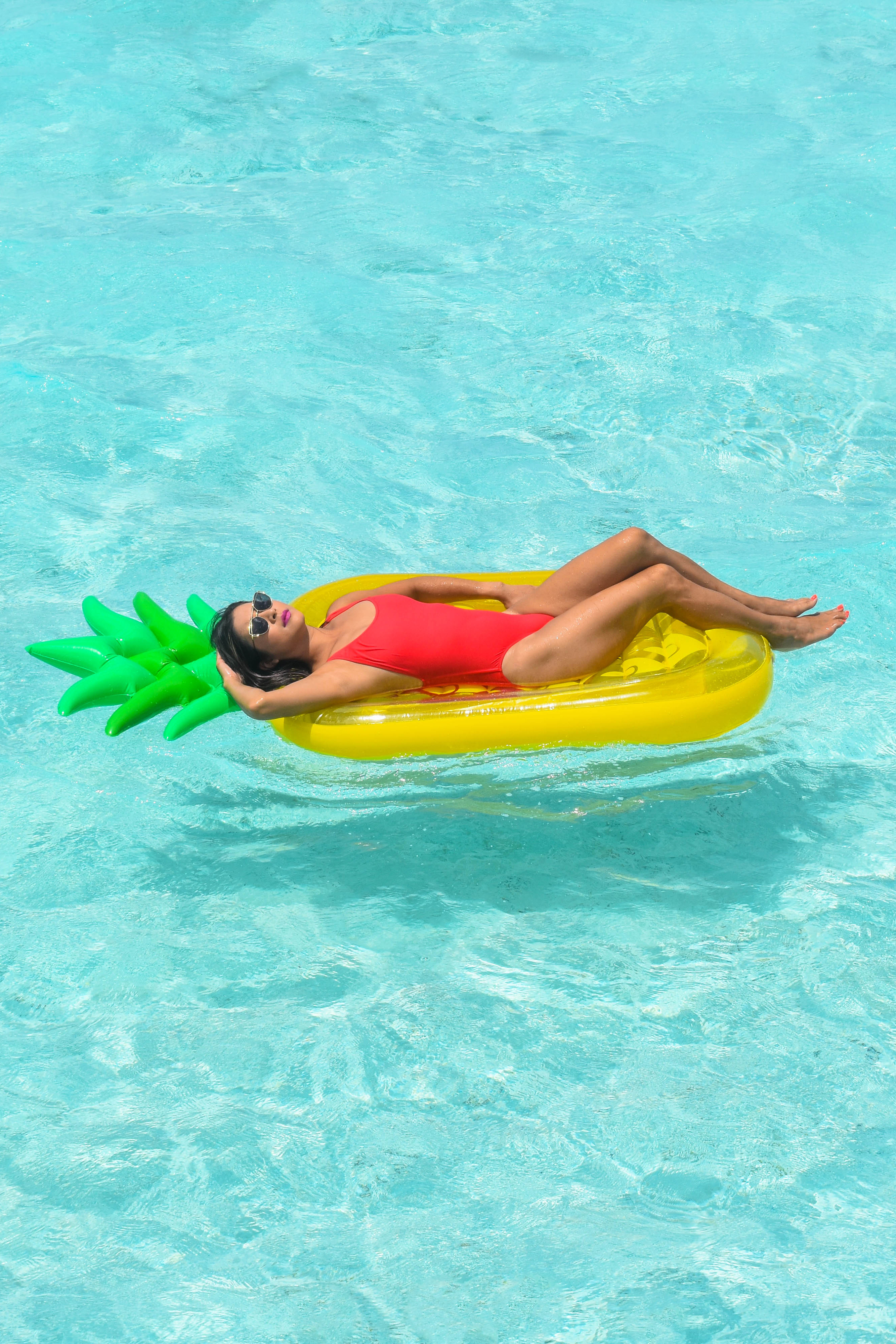 J Crew One Piece Swimsuit and Pineapple Float